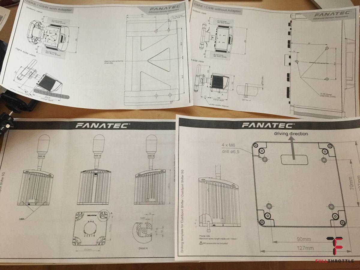 Szkice produktów Fanatec.