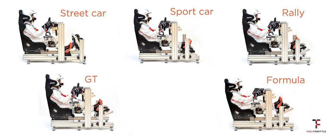 Hamulce można ustawiać prawie jak w każdym sportowym aucie. Źródło www.custom-cockpits.com