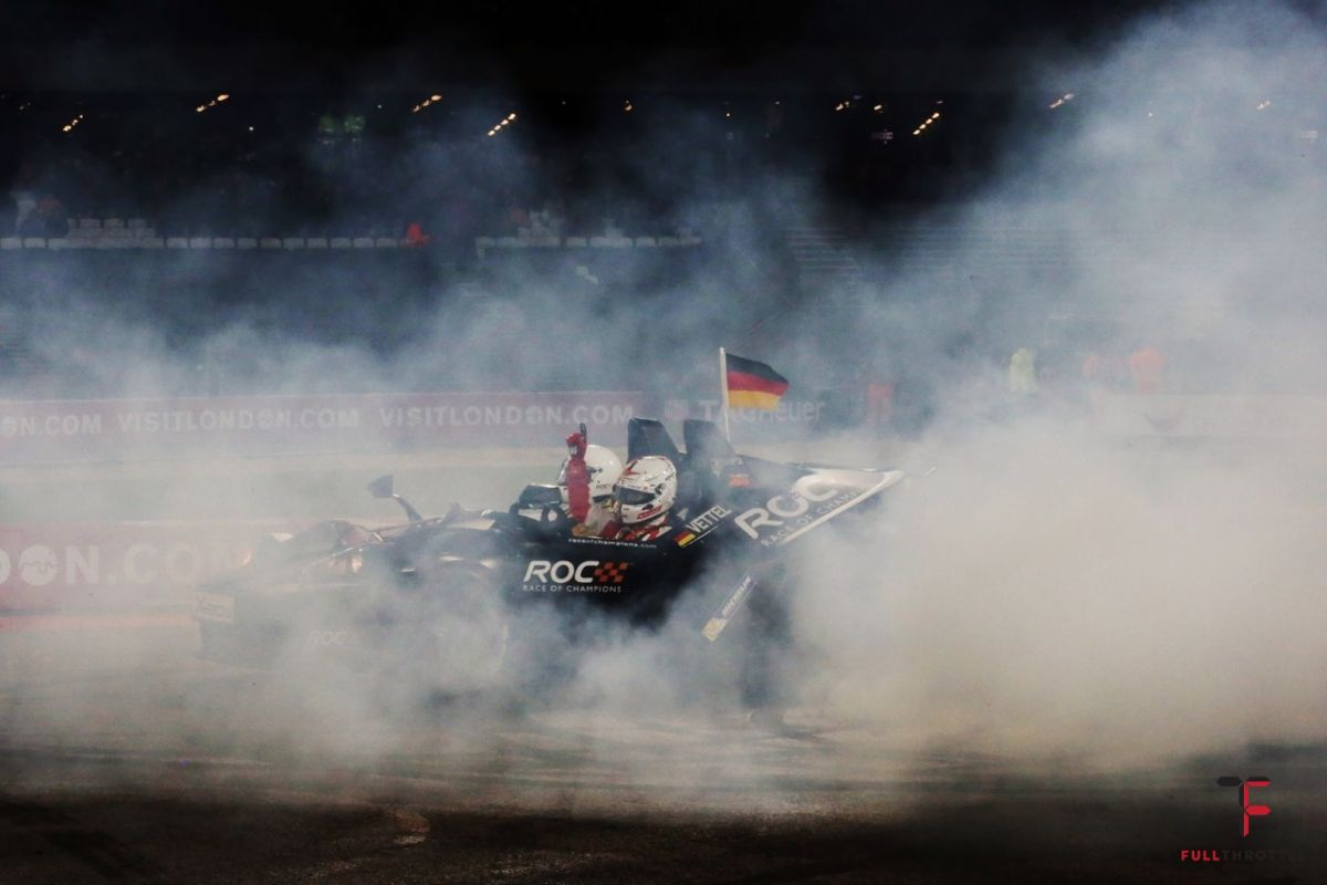 Vettel zapewne świętuj zwycięstwo w Race of Champion, źródło: raceofchampions.com